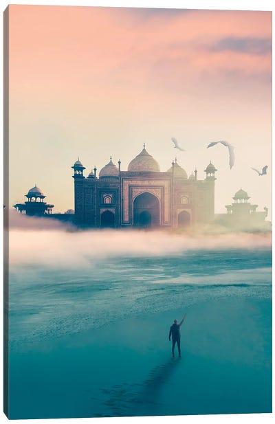 Beach Temple Canvas Art Print