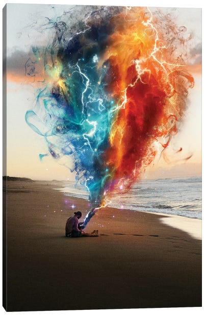 Raging Nebula Canvas Art Print