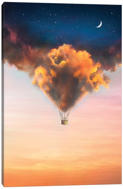 Cloudy Balloon Canvas Art Print