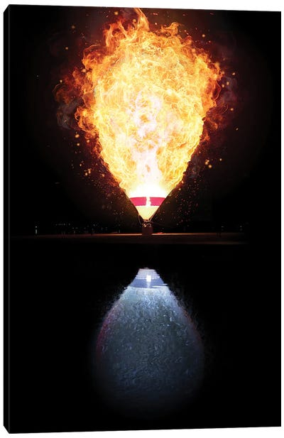 Fire And Water Balloon Canvas Art Print