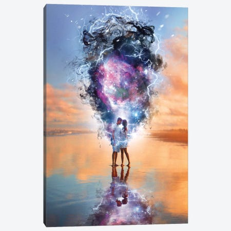 Lovers Nebula Canvas Print #GAV39} by Gabriel Avram Canvas Art Print