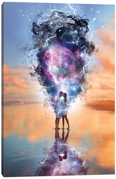 Lovers Nebula Canvas Art Print