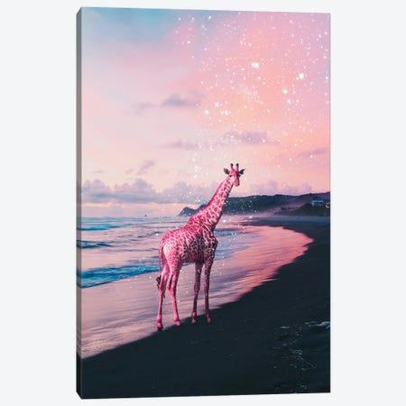Galactic Giraffe Canvas Print #GAV3} by Gabriel Avram Canvas Wall Art