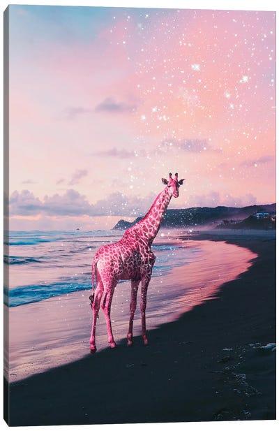 Galactic Giraffe Canvas Art Print