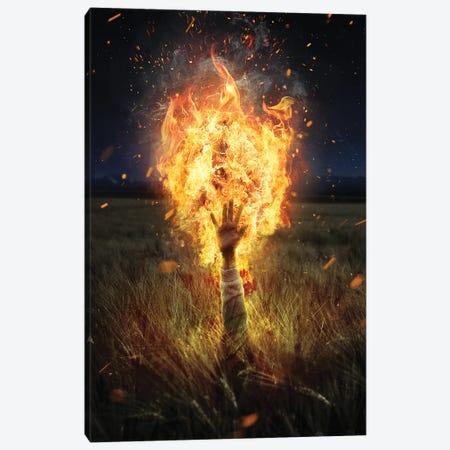 Burning Like Hell Canvas Print #GAV40} by Gabriel Avram Canvas Art