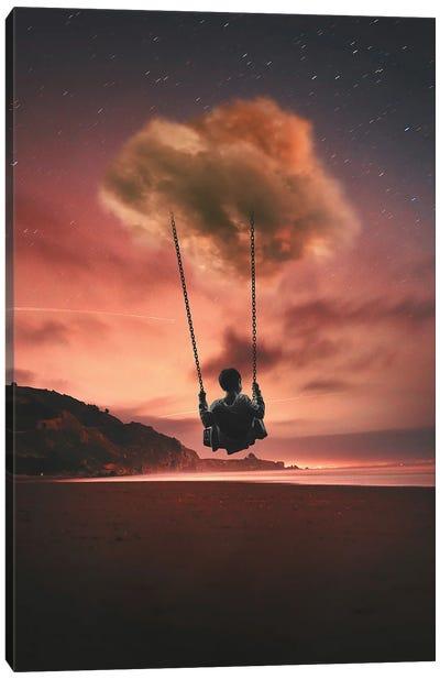 Swinging On The Cloud Canvas Art Print