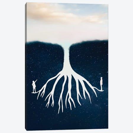 Sky Stars Tree Canvas Print #GAV8} by Gabriel Avram Canvas Wall Art