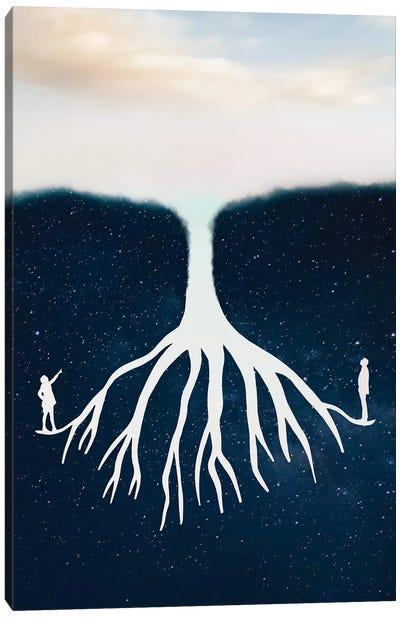 Sky Stars Tree Canvas Art Print