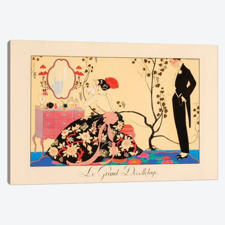 Le Grand Décolletage Canvas Print #GBA4} by Georges Barbier Canvas Art