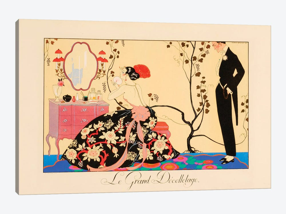 Le Grand Décolletage by Georges Barbier 1-piece Canvas Print