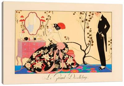 Le Grand Décolletage Canvas Art Print