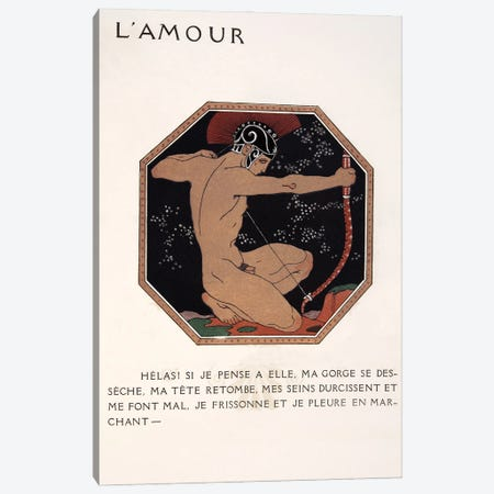 L'Amour, illustration from Les Chansons de Bilitis, 1922 Canvas Print #GBA8} by George Barbier Canvas Print
