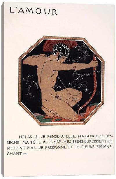 L'Amour, illustration from Les Chansons de Bilitis, 1922 Canvas Art Print