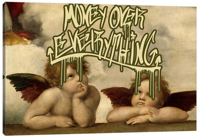 Money Over Everything Canvas Art Print