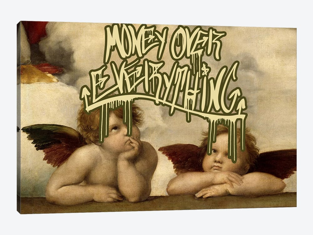 Money Over Everything by 5by5collective 1-piece Canvas Wall Art