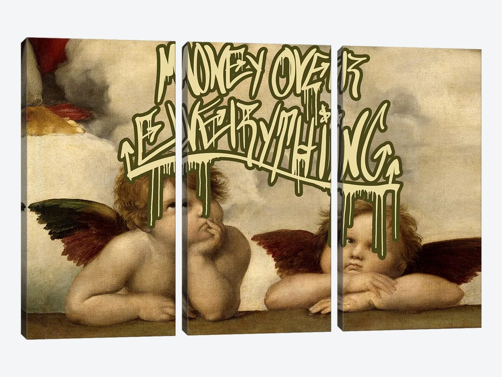 Money Over Everything by 5by5collective 3-piece Canvas Wall Art