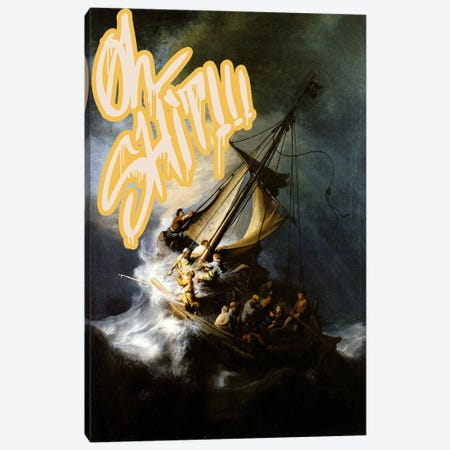 Oh Shit! Canvas Print #GBC11} by 5by5collective Canvas Art