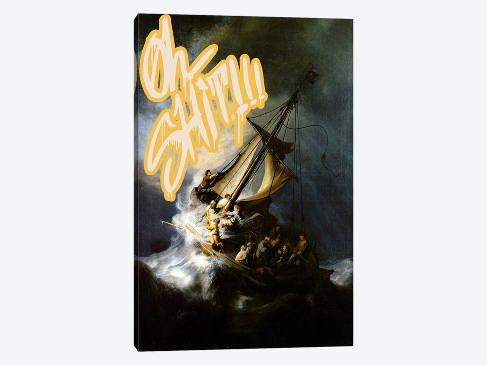 Oh Shit! by 5by5collective 1-piece Canvas Art Print