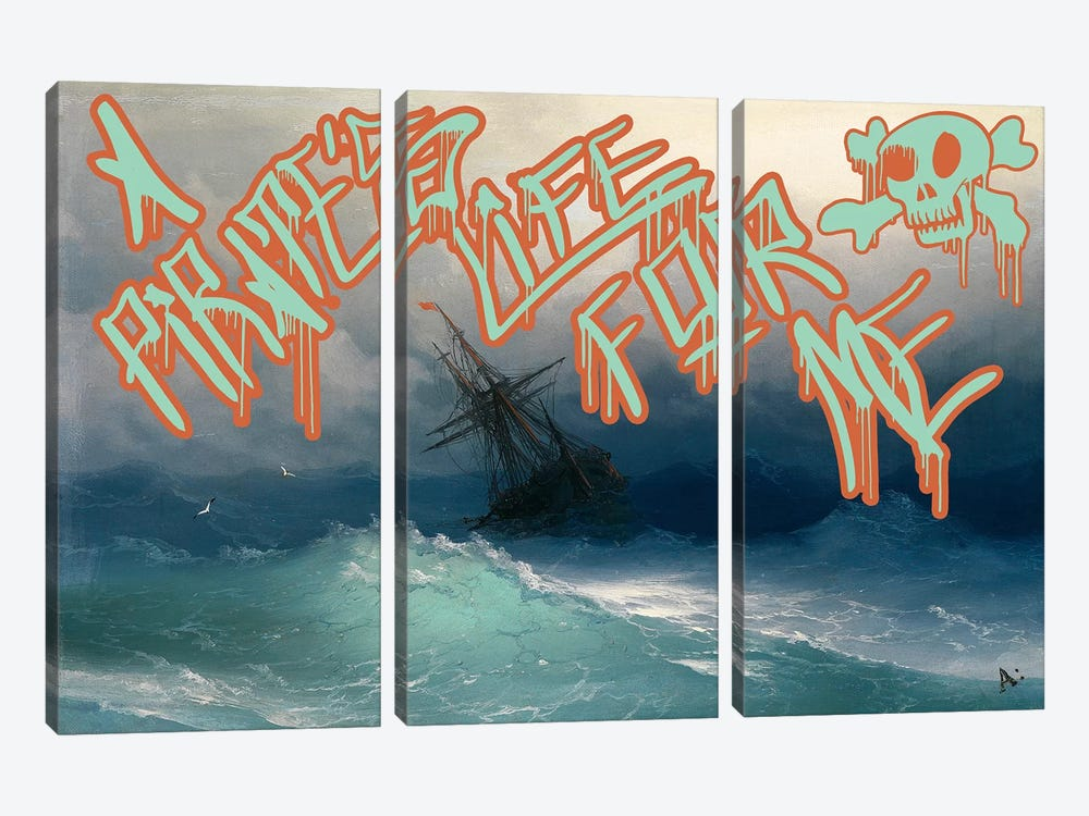 Pirates Life by 5by5collective 3-piece Canvas Print