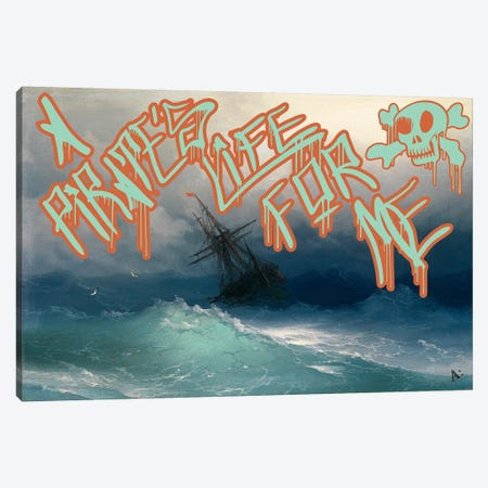 Pirates Life Canvas Print #GBC13} by 5by5collective Canvas Wall Art