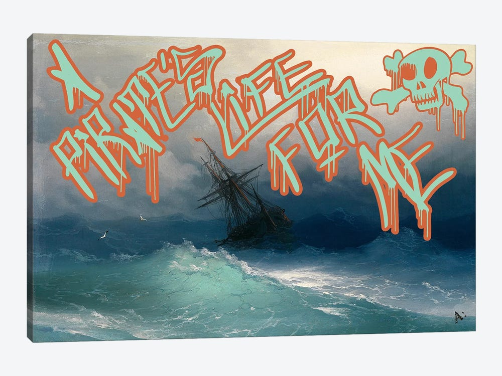 Pirates Life by 5by5collective 1-piece Canvas Art Print