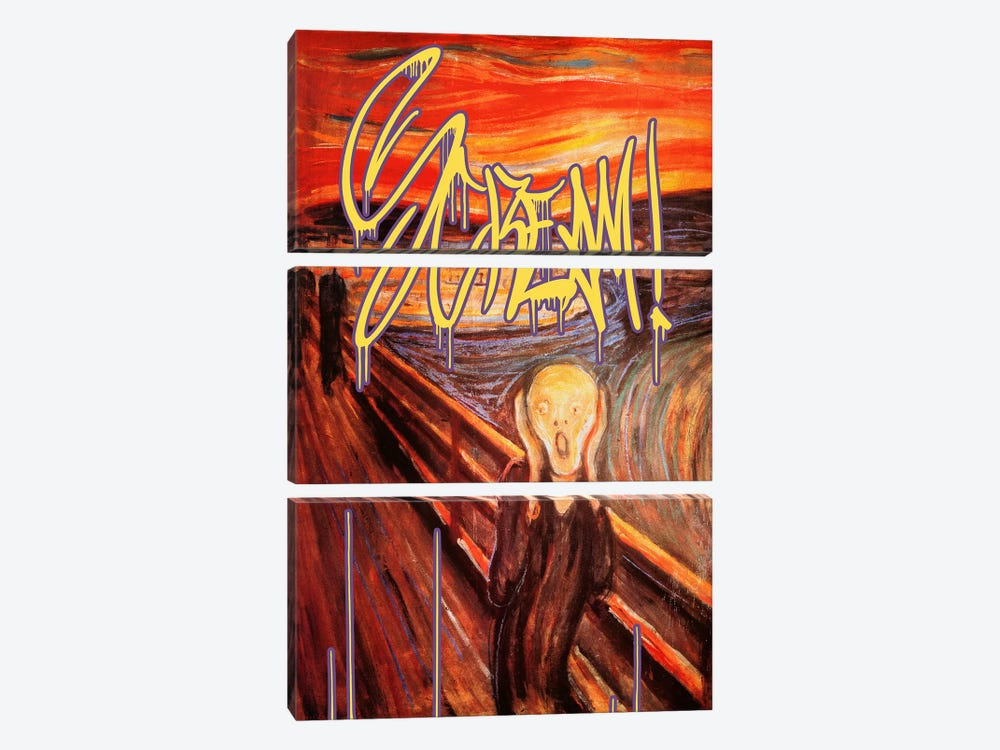 Scream by 5by5collective 3-piece Canvas Print