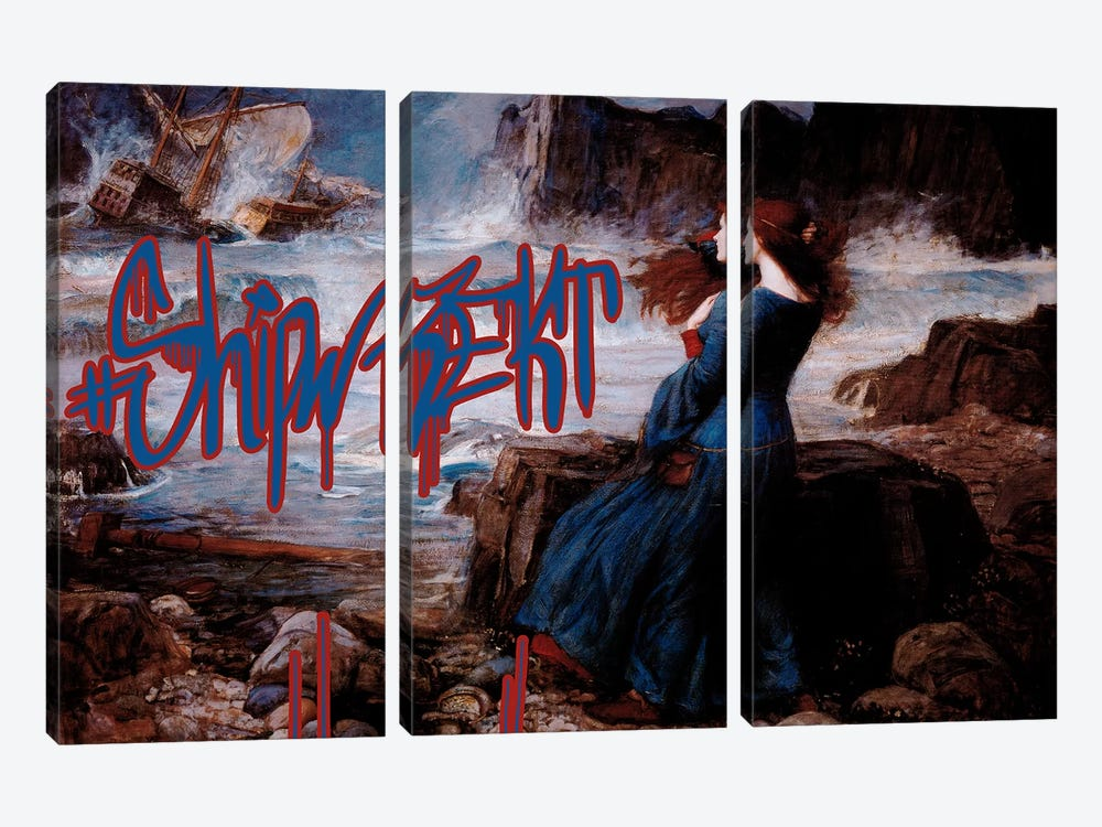 Shipwrekt by 5by5collective 3-piece Art Print