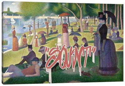 Squint Canvas Art Print