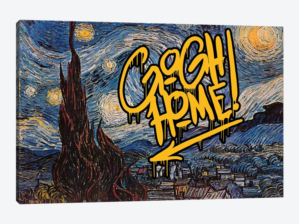 Gogh Home by 5by5collective 1-piece Art Print