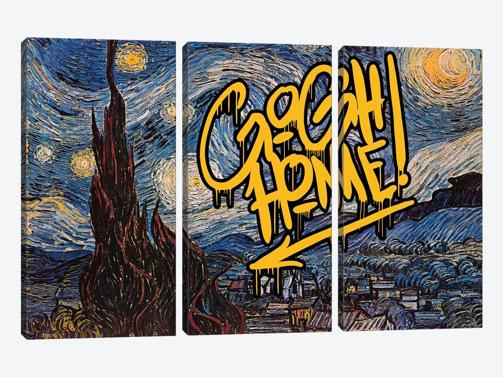 Gogh Home by 5by5collective 3-piece Art Print