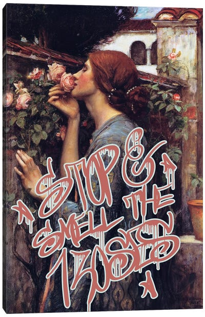 Stop and Smell the Roses Canvas Art Print