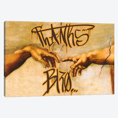 Thanks Bro Canvas Print #GBC24} by 5by5collective Canvas Artwork