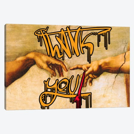 Thank You Canvas Print #GBC25} by 5by5collective Canvas Wall Art