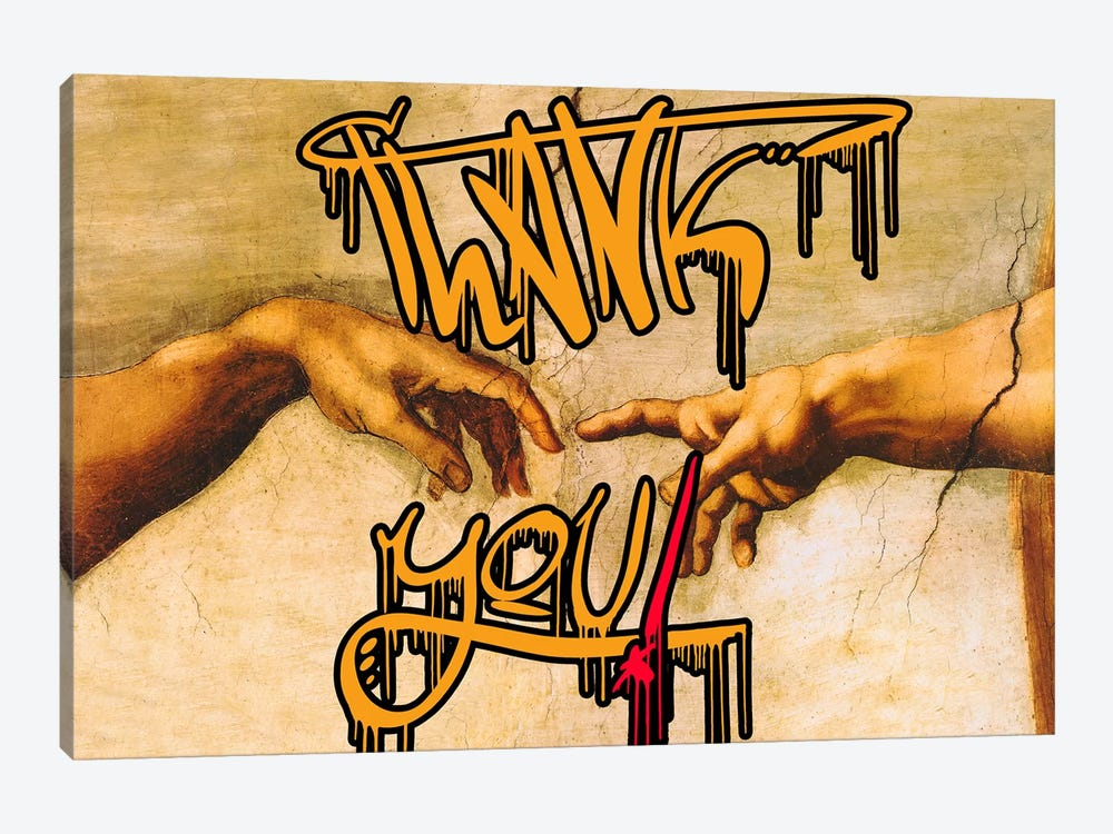 Thank You by 5by5collective 1-piece Canvas Wall Art