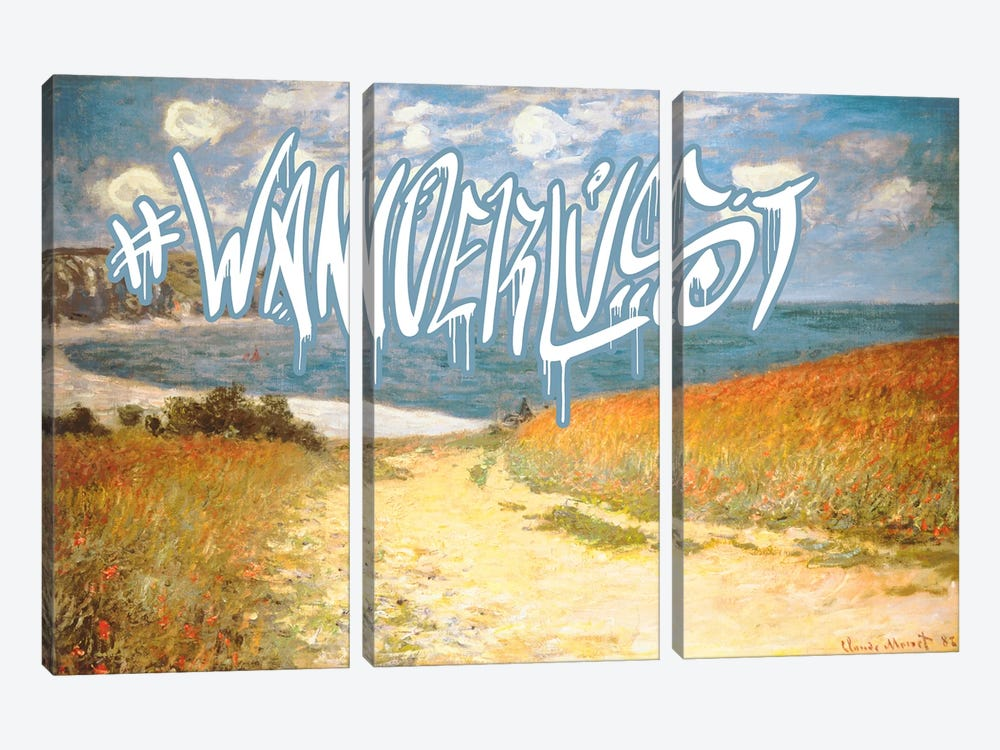 Wanderlust by 5by5collective 3-piece Canvas Print