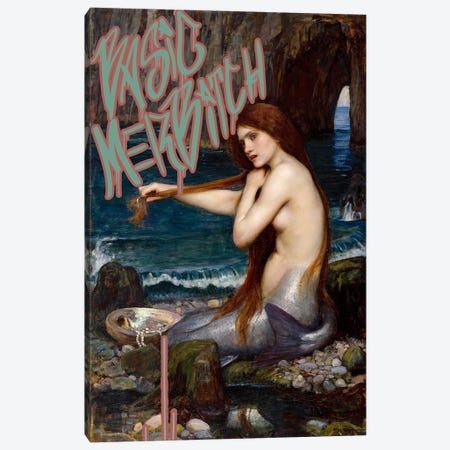 Basic Merbitch Canvas Print #GBC9} by 5by5collective Canvas Art Print
