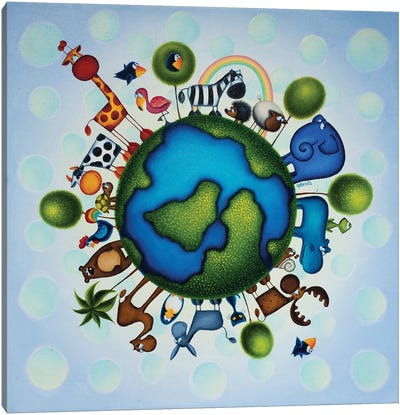 Happy Earth Canvas Art Print