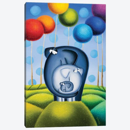 Mommy, Daddy and Me Canvas Print #GBE27} by Gabriela Elgaafary Canvas Art