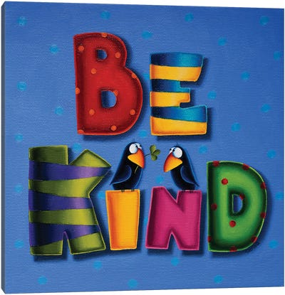 Be Kind Canvas Art Print
