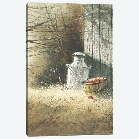 The Old Milk Can 3-Piece Canvas #GBJ5} by George Bjorkland Canvas Print