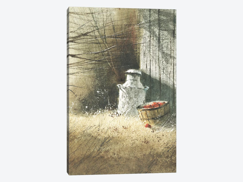 The Old Milk Can by George Bjorkland 1-piece Canvas Print
