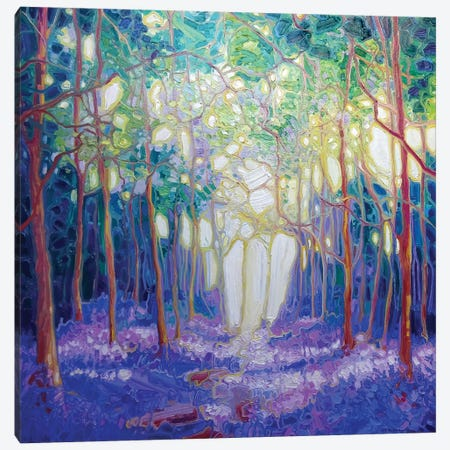 Escape Through The Bluebell Wood Canvas Print #GBU11} by Gill Bustamante Canvas Artwork