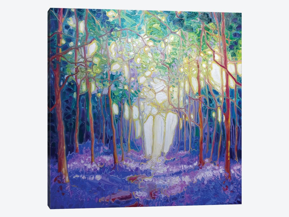 Escape Through The Bluebell Wood by Gill Bustamante 1-piece Canvas Artwork