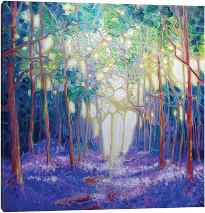 Escape Through The Bluebell Wood Canvas Art Print