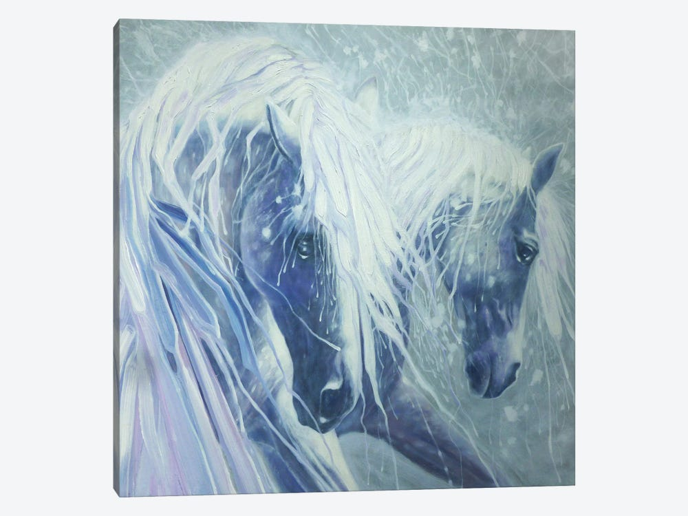 Ice Horses, Square by Gill Bustamante 1-piece Canvas Art