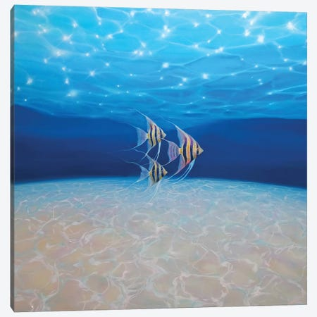 Angels Under The Sea, Square Canvas Print #GBU2} by Gill Bustamante Canvas Artwork