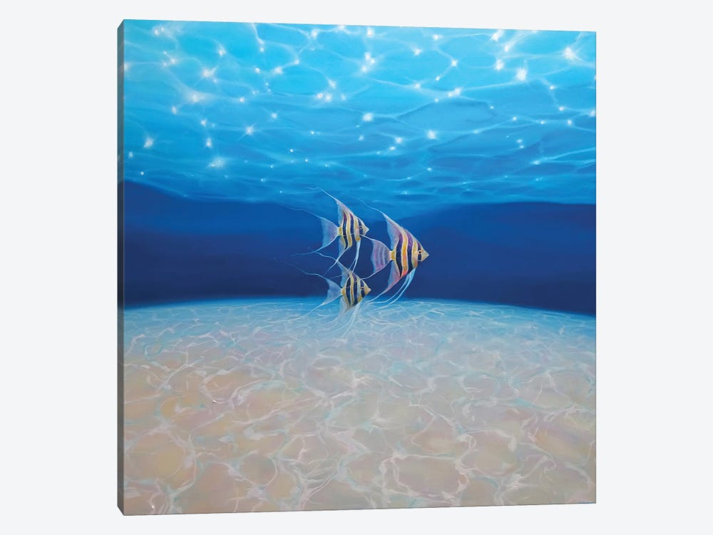 Angels Under The Sea, Square by Gill Bustamante 1-piece Canvas Print