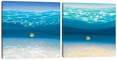 Starting Again Diptych Canvas Art Print