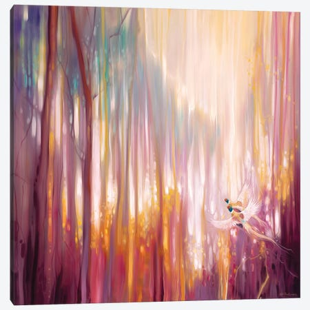 Nebulous Forest Canvas Print #GBU31} by Gill Bustamante Canvas Wall Art