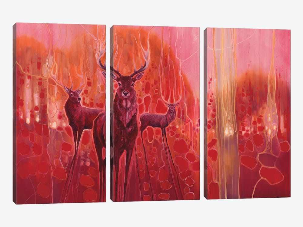 Red Magic by Gill Bustamante 3-piece Canvas Print